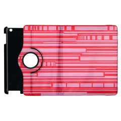 Index Red Pink Apple Ipad 3/4 Flip 360 Case