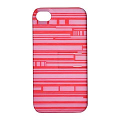 Index Red Pink Apple iPhone 4/4S Hardshell Case with Stand