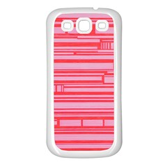 Index Red Pink Samsung Galaxy S3 Back Case (white)