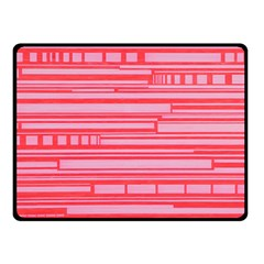 Index Red Pink Double Sided Fleece Blanket (small)