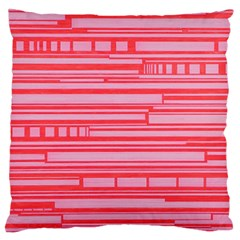 Index Red Pink Large Flano Cushion Case (one Side)