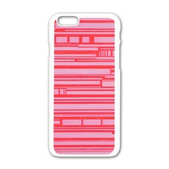 Index Red Pink Apple Iphone 6/6s White Enamel Case