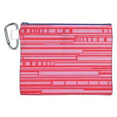 Index Red Pink Canvas Cosmetic Bag (xxl)