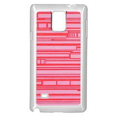Index Red Pink Samsung Galaxy Note 4 Case (white)