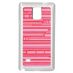 Index Red Pink Samsung Galaxy Note 4 Case (White) Front