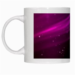 Purple Wallpaper White Mugs