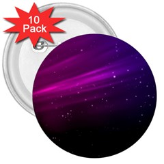 Purple Wallpaper 3  Buttons (10 Pack)