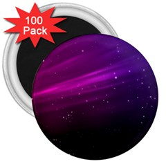 Purple Wallpaper 3  Magnets (100 Pack)