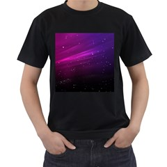 Purple Wallpaper Men s T Shirt (black) (two Sided)