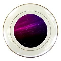 Purple Wallpaper Porcelain Plates