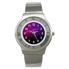 Purple Wallpaper Stainless Steel Watch