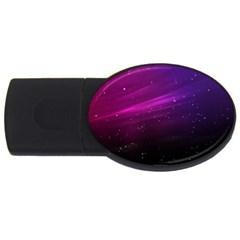 Purple Wallpaper Usb Flash Drive Oval (4 Gb)