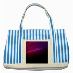 Purple Wallpaper Striped Blue Tote Bag