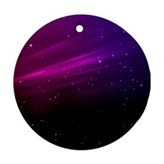 Purple Wallpaper Round Ornament (two Sides)