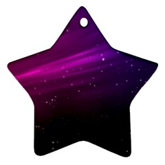 Purple Wallpaper Star Ornament (two Sides)