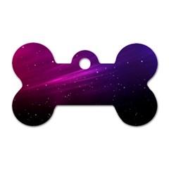Purple Wallpaper Dog Tag Bone (two Sides)