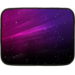 Purple Wallpaper Double Sided Fleece Blanket (mini)