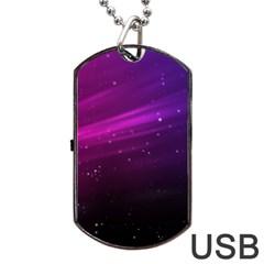 Purple Wallpaper Dog Tag Usb Flash (two Sides)