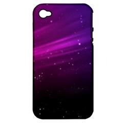 Purple Wallpaper Apple Iphone 4/4s Hardshell Case (pc+silicone)