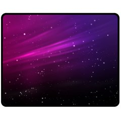 Purple Wallpaper Double Sided Fleece Blanket (medium)