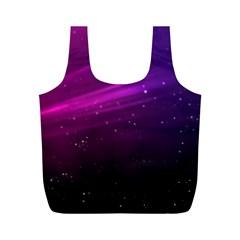 Purple Wallpaper Full Print Recycle Bags (m)