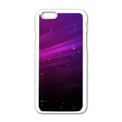 Purple Wallpaper Apple Iphone 6/6s White Enamel Case