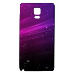 Purple Wallpaper Galaxy Note 4 Back Case