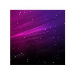 Purple Wallpaper Small Satin Scarf (square)