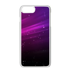 Purple Wallpaper Apple iPhone 7 Plus White Seamless Case