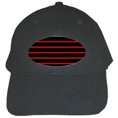 Red And Black Horizontal Lines And Stripes Seamless Tileable Black Cap