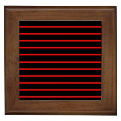 Red And Black Horizontal Lines And Stripes Seamless Tileable Framed Tiles