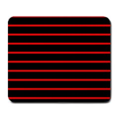 Red And Black Horizontal Lines And Stripes Seamless Tileable Large Mousepads