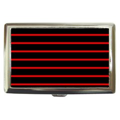 Red And Black Horizontal Lines And Stripes Seamless Tileable Cigarette Money Cases