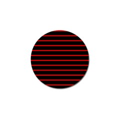 Red And Black Horizontal Lines And Stripes Seamless Tileable Golf Ball Marker
