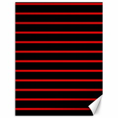 Red And Black Horizontal Lines And Stripes Seamless Tileable Canvas 12  X 16