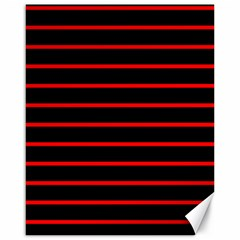 Red And Black Horizontal Lines And Stripes Seamless Tileable Canvas 16  X 20