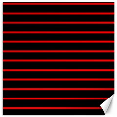 Red And Black Horizontal Lines And Stripes Seamless Tileable Canvas 20  X 20