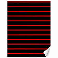 Red And Black Horizontal Lines And Stripes Seamless Tileable Canvas 18  X 24