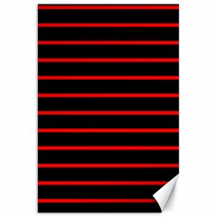 Red And Black Horizontal Lines And Stripes Seamless Tileable Canvas 20  X 30
