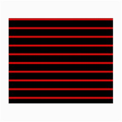 Red And Black Horizontal Lines And Stripes Seamless Tileable Small Glasses Cloth (2 Side)