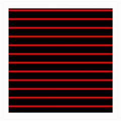 Red And Black Horizontal Lines And Stripes Seamless Tileable Medium Glasses Cloth (2 Side)