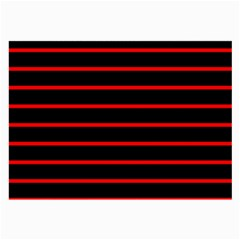 Red And Black Horizontal Lines And Stripes Seamless Tileable Large Glasses Cloth