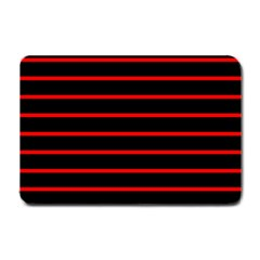 Red And Black Horizontal Lines And Stripes Seamless Tileable Small Doormat