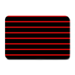 Red And Black Horizontal Lines And Stripes Seamless Tileable Plate Mats