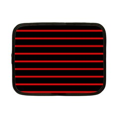 Red And Black Horizontal Lines And Stripes Seamless Tileable Netbook Case (small)