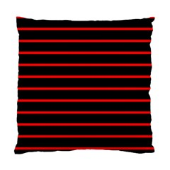 Red And Black Horizontal Lines And Stripes Seamless Tileable Standard Cushion Case (Two Sides)