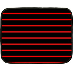 Red And Black Horizontal Lines And Stripes Seamless Tileable Fleece Blanket (mini)