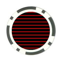 Red And Black Horizontal Lines And Stripes Seamless Tileable Poker Chip Card Guard (10 Pack)