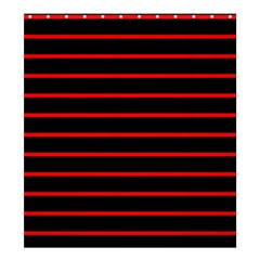 Red And Black Horizontal Lines And Stripes Seamless Tileable Shower Curtain 66  X 72  (large)