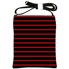 Red And Black Horizontal Lines And Stripes Seamless Tileable Shoulder Sling Bags